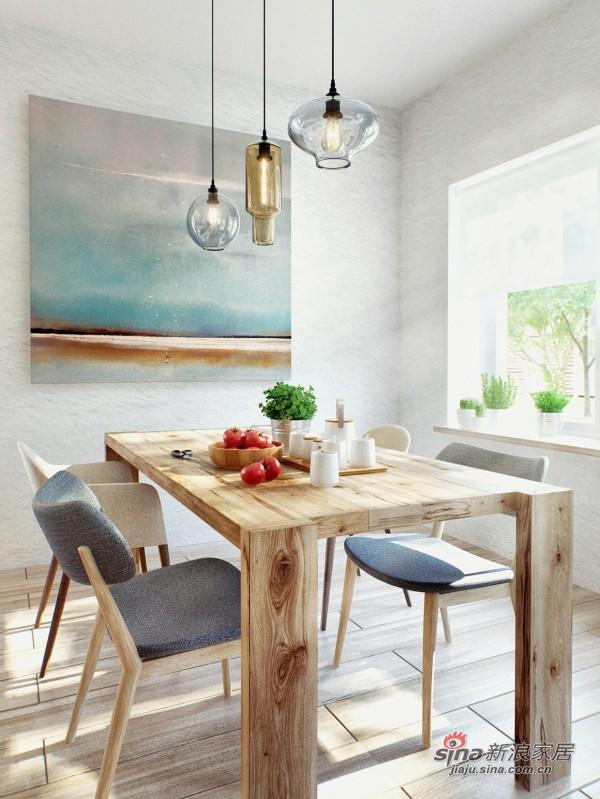简易木质餐桌椅,原木生活