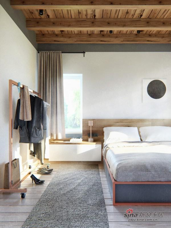 宽敞简易的北欧风格卧室