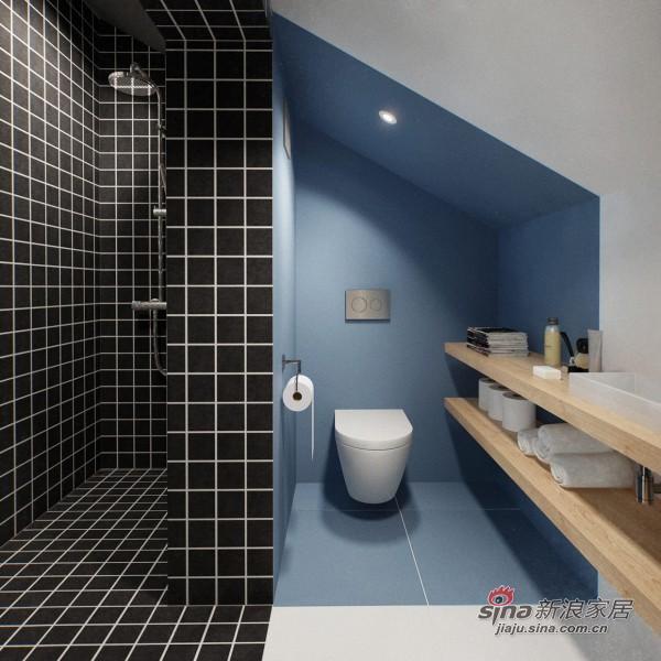 很时尚的卫生间设计