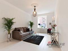 60平简单舒适两房公寓设计