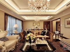 18.7万打造林业厅单位房260㎡欧式六居室大户型装修设计方案