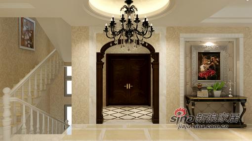 样板间 260平米经典白色欧式别墅 楼梯; 260平米经典白色欧式别墅图片图片