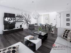 150平现代时尚黑白家居设计