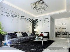 《银光树影》--现代简约三房两厅97平米