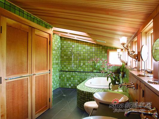 绿色马赛克瓷砖森林气息