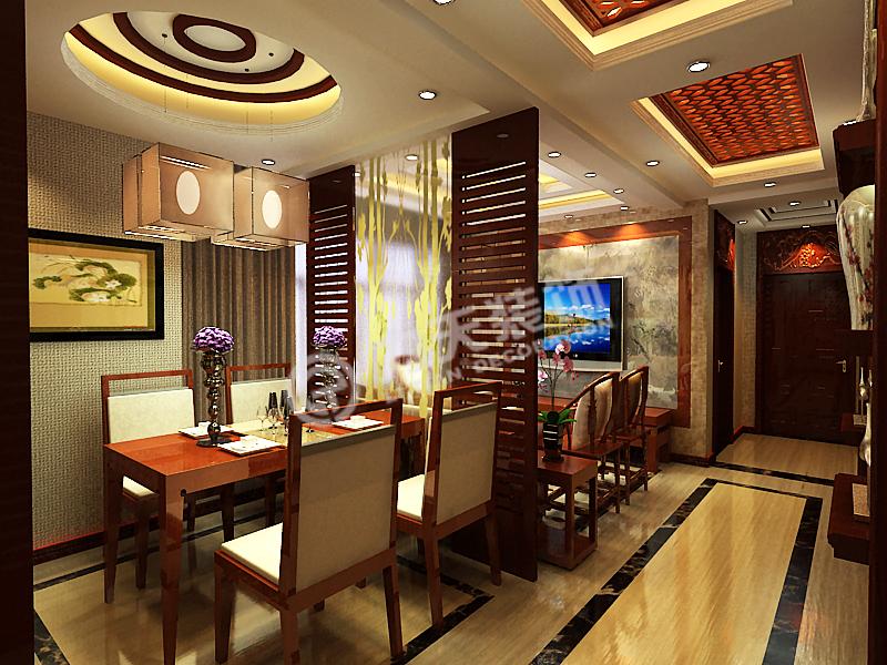 金融街中心-两室一厅一厨一卫-新中式风格图片