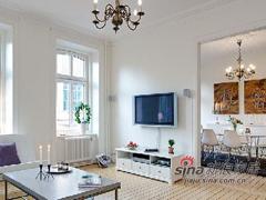 87平白色简约瑞典风格公寓