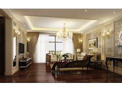 上海实创装饰打造大平层三居室欧式装修