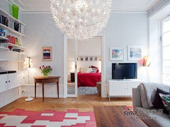 白领89平北欧炫彩两居室
