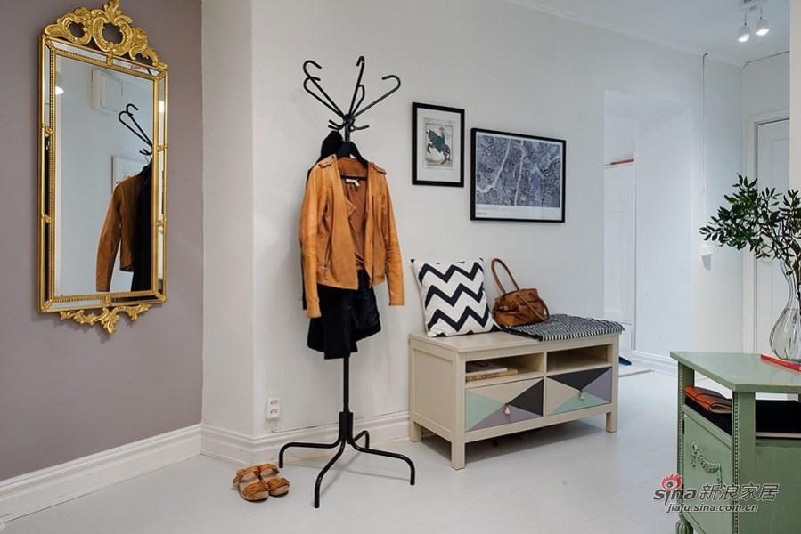 入门处的鞋柜和衣帽架