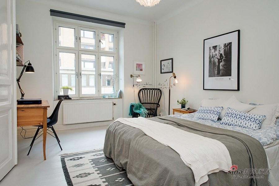 典型的北欧卧室