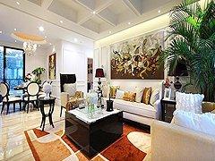 四室两厅奢华新古典 客厅很有范儿