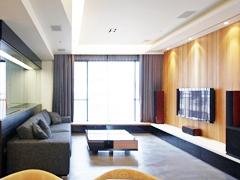 【高清】87平木质英朗现代两居室