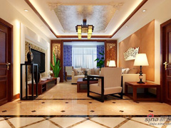 银行职员15万打造新中式风格三居室
