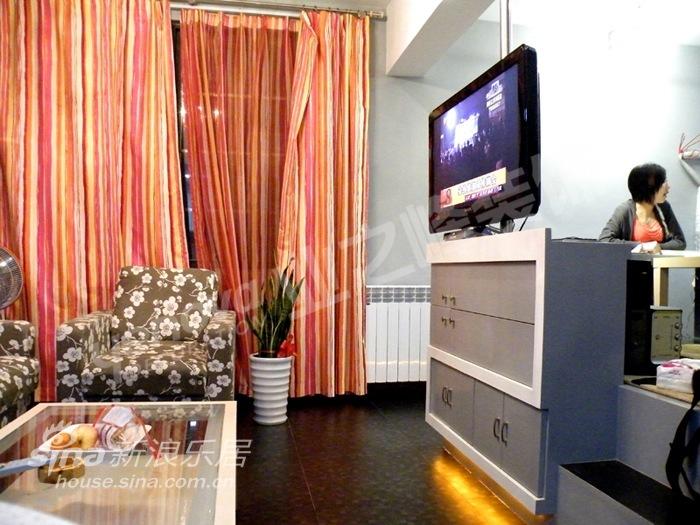 小户型的时尚大空间 二室二厅图片 样板间 新浪装修家居网 高清图片