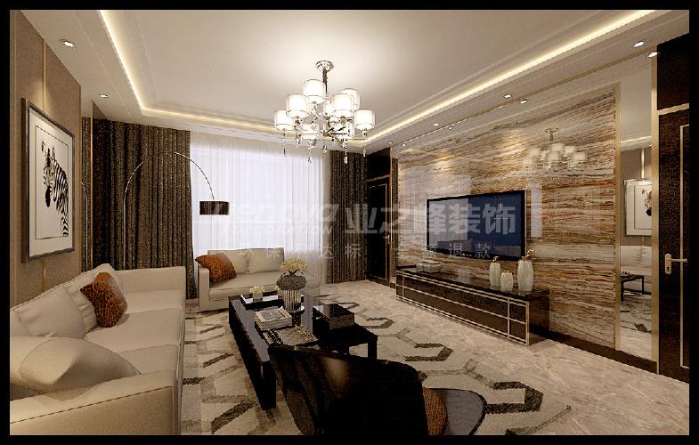 龙湖唐宁one134平米洋房港式风格装修设计