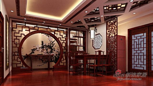 潍坊佰佳空间装饰的装修日记 > 稳重而华丽的现代中式     电视墙,用图片
