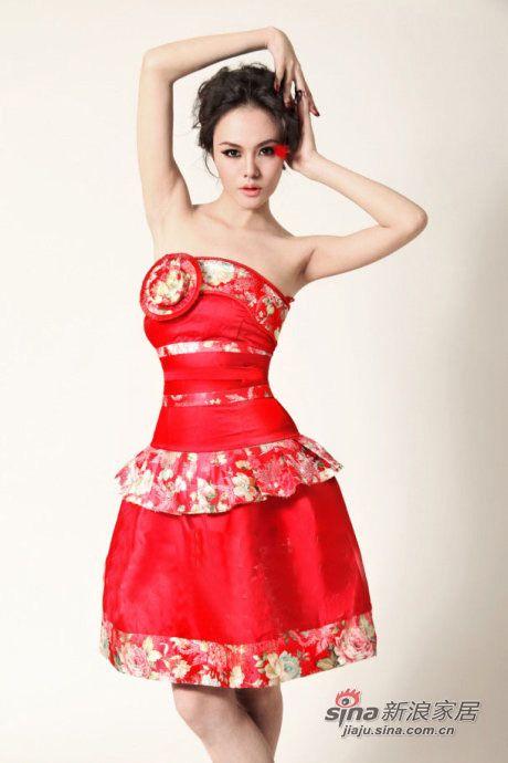 突破传统的中式婚纱礼服