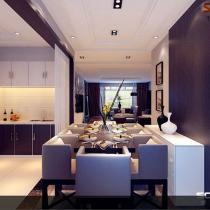 崂山区【金地悦峰】147平三居室现代装修设计