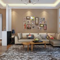 简洁大方现代两居室 清新别致的美家