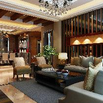 【上海实创装饰】金领国际156平现代三室两厅清爽设计