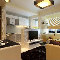黑白灰色彩5.1万装修柳浪家园小户型50平米