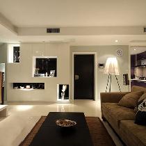 6.5万全包西泽园90平个性造型房 简约时尚两居室
