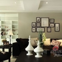 个性黑白配 30万打造130平美式简约三室二厅