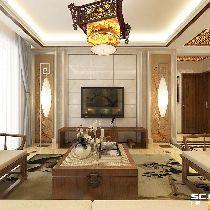 三居室中式装修【金日紫都】134平雅致设计|青岛实创装饰