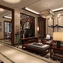 实创装饰【鑫江水青花园】小区217平米新中式风格装修