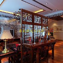 别墅设计作品|320平中式风格别墅空间设计案例|易尚唐大宅设计