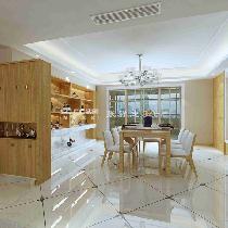 千禧龙苑三居室现代简约装修设计实创装饰