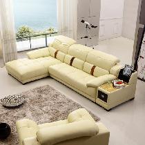 真皮沙发小户型欧式客厅转角组合皮艺沙发L型时尚休闲沙发29