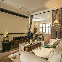 【上海实创装饰】经纬城市92平美式2居婚房温馨家