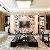 一家都爱简欧风格16万装修130平米中信城三居