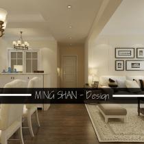 案例小区:容大东海岸 设计师:明   珊(主任设计师) 建筑面积:90平米 设计风格:北欧风格