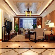 117平保利中央公馆现代中式风格时尚三居室