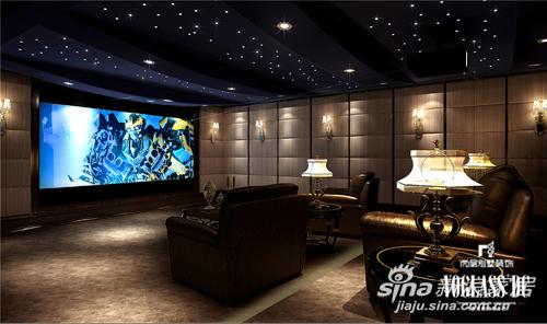 视听间影音室主要采用软包饰面,缔造美观舒适的空间,让业主在视觉享受