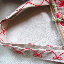 包袋刺绣细节图