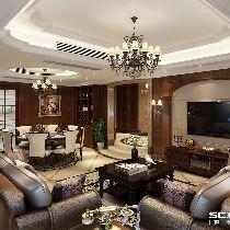 【上海实创装饰】上海嘉定区190平古典欧式风格主元素美居