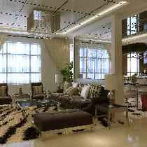 13万全包166平温馨时尚、简约风格通用时代国际三居室