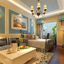年轻小夫妻装修54平米老房翻新地中海风格温馨房