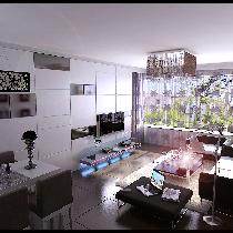 天津实创装饰—小清新来袭 女白领自主设计100平纯白美屋装修设计