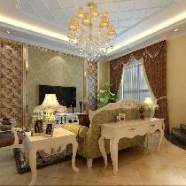 品味孔雀城220平别墅装修演绎欧式风格大包仅需17万元!