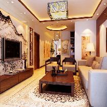 8.6万装修海淀柳浪家园小区126平米新中式风格三居效果图