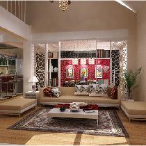 实创装饰-顺义200平米复式空间利用与设计完美结合