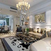 【上海实创装饰】嘉定安亭143平欧式古典三居典雅华贵之家
