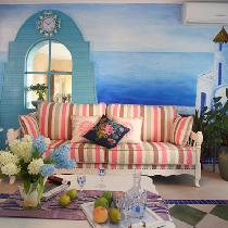 地中海风格装修西山庭院 打造不一样的小清新