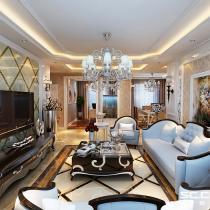 哈尔滨实创装饰打造玫瑰湾珑岸140平优雅欧式三居