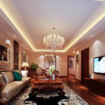 秦皇岛127平三居精致温馨的欧式住宅设计